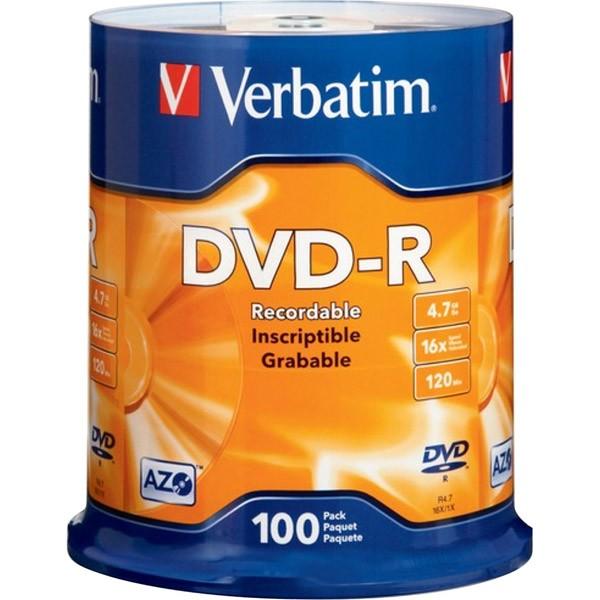 диски dvd+r 4.7Gb 16x Color Verbatim